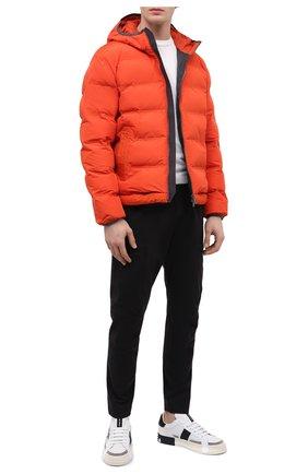 Мужская утепленная куртка Z ZEGNA оранжевого цвета, арт. VY011/ZZ082 | Фото 2 (Рукава: Длинные; Материал подклада: Синтетический материал; Материал внешний: Синтетический материал; Длина (верхняя одежда): Короткие; Кросс-КТ: Куртка; Мужское Кросс-КТ: пуховик-короткий; Стили: Кэжуэл)