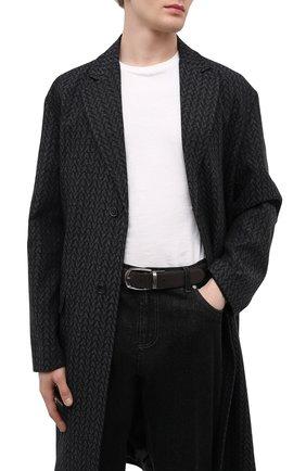 Мужской кожаный ремень ERMENEGILDO ZEGNA коричневого цвета, арт. BTUA2N/701G   Фото 2 (Случай: Формальный)