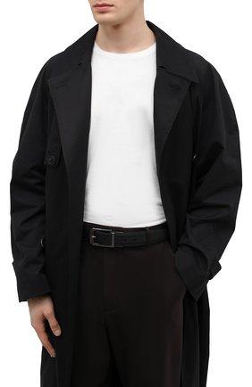 Мужской двусторонний ремень ERMENEGILDO ZEGNA черного цвета, арт. BFRM1B/J0977B | Фото 2 (Случай: Формальный)