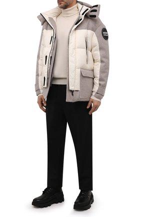 Мужские кожаные ботинки petit mercurious MONCLER черного цвета, арт. G2-09A-4F707-00-019A6 | Фото 2 (Материал внутренний: Натуральная кожа; Мужское Кросс-КТ: Ботинки-обувь; Каблук высота: Высокий; Подошва: Массивная)