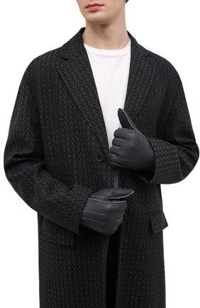 Мужские кожаные перчатки PARAJUMPERS серого цвета, арт. GL11/SHEARLING GL0VES | Фото 2 (Материал: Натуральный мех; Мужское Кросс-КТ: Кожа и замша)