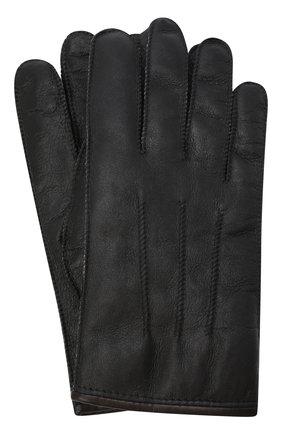 Мужские кожаные перчатки PARAJUMPERS черного цвета, арт. GL11/SHEARLING GL0VES | Фото 1 (Материал: Натуральный мех; Мужское Кросс-КТ: Кожа и замша)