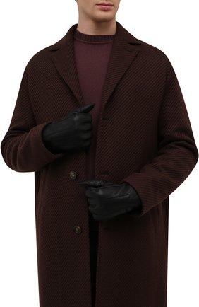 Мужские кожаные перчатки PARAJUMPERS черного цвета, арт. GL11/SHEARLING GL0VES | Фото 2 (Материал: Натуральный мех; Мужское Кросс-КТ: Кожа и замша)