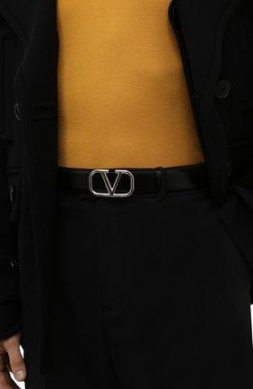 Мужской кожаный ремень VALENTINO черного цвета, арт. WY0T0Q90/SNP | Фото 2 (Случай: Повседневный)