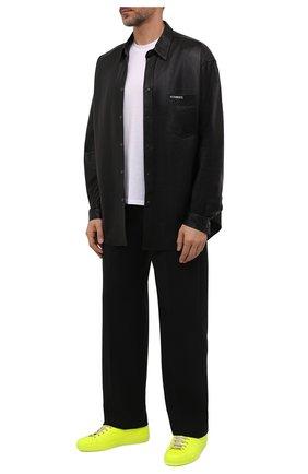 Мужские кожаные кеды new ace GUCCI желтого цвета, арт. 659221/2X410 | Фото 2 (Материал внутренний: Текстиль, Натуральная кожа; Подошва: Плоская)