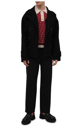 Мужские кожаные ботинки GUCCI черного цвета, арт. 663368/DTNE0 | Фото 2 (Подошва: Массивная; Каблук высота: Высокий; Материал внутренний: Натуральная кожа; Мужское Кросс-КТ: Ботинки-обувь)
