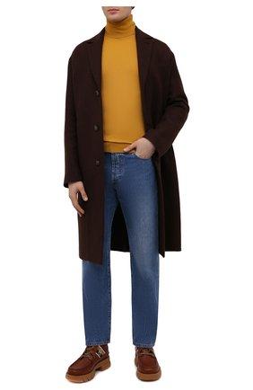 Мужские кожаные ботинки GUCCI коричневого цвета, арт. 663368/DTNE0 | Фото 2 (Материал внутренний: Натуральная кожа; Мужское Кросс-КТ: Ботинки-обувь; Каблук высота: Высокий; Подошва: Массивная)