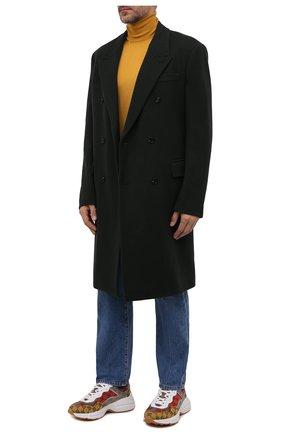 Мужские текстильные кроссовки rhyton GUCCI разноцветного цвета, арт. 663659/2UZJ0 | Фото 2 (Подошва: Массивная; Материал внутренний: Текстиль; Материал внешний: Текстиль; Стили: Гранж)