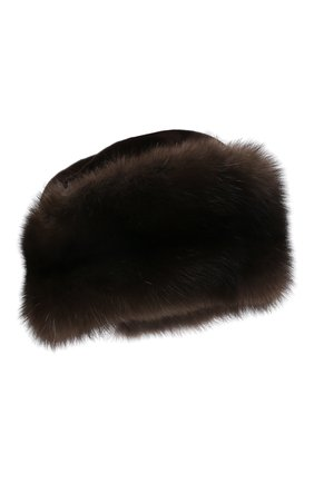 Женская шапка-кубанка из меха норки KUSSENKOVV темно-коричневого цвета, арт. 060213583080   Фото 1 (Материал: Натуральный мех)