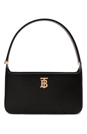 Женская сумка tb medium BURBERRY черного цвета, арт. 8046246 | Фото 1 (Размер: medium; Материал: Натуральная кожа; Сумки-технические: Сумки top-handle)