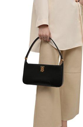 Женская сумка tb medium BURBERRY черного цвета, арт. 8046246 | Фото 2 (Размер: medium; Материал: Натуральная кожа; Сумки-технические: Сумки top-handle)
