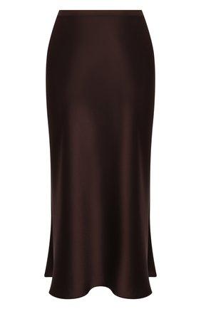Женская юбка POLO RALPH LAUREN темно-коричневого цвета, арт. 211815376 | Фото 1 (Материал внешний: Синтетический материал; Женское Кросс-КТ: Юбка-одежда; Стили: Романтичный; Длина Ж (юбки, платья, шорты): До колена, Миди)