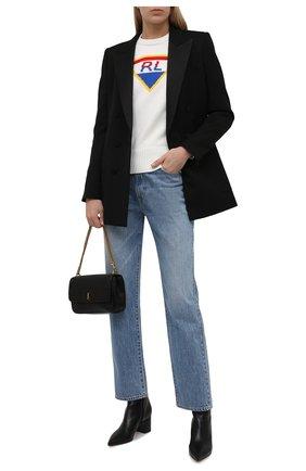 Женский хлопковый свитер POLO RALPH LAUREN кремвого цвета, арт. 211847024 | Фото 2 (Материал внешний: Хлопок; Длина (для топов): Стандартные; Рукава: Длинные; Женское Кросс-КТ: Свитер-одежда; Стили: Кэжуэл)