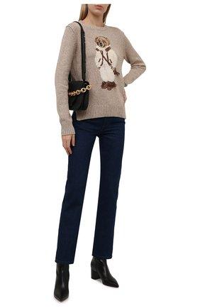 Женский хлопковый свитер POLO RALPH LAUREN бежевого цвета, арт. 211847034 | Фото 2 (Рукава: Длинные; Длина (для топов): Стандартные; Материал внешний: Хлопок; Женское Кросс-КТ: Свитер-одежда; Стили: Кэжуэл)