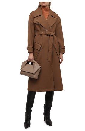 Женское шерстяное пальто laxton BURBERRY коричневого цвета, арт. 8038930 | Фото 2 (Материал внешний: Шерсть; Материал подклада: Купро; Рукава: Длинные; Длина (верхняя одежда): Длинные; 1-2-бортные: Однобортные; Стили: Кэжуэл)
