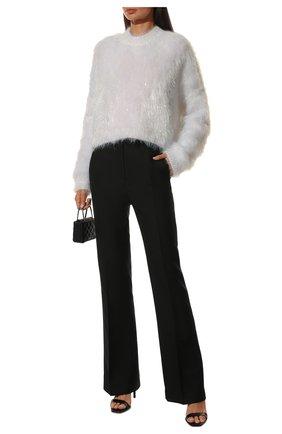 Женский свитер DOLCE & GABBANA белого цвета, арт. FXE77T/JCM02 | Фото 2 (Рукава: Длинные; Материал внешний: Синтетический материал; Длина (для топов): Стандартные; Женское Кросс-КТ: Свитер-одежда; Стили: Романтичный)