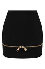 Женская шерстяная юбка DOLCE & GABBANA черного цвета, арт. F4B90T/FU208 | Фото 1 (Материал подклада: Шелк; Длина Ж (юбки, платья, шорты): Мини; Материал внешний: Шерсть; Женское Кросс-КТ: Юбка-одежда; Стили: Романтичный)