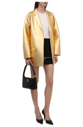 Женская шерстяная юбка DOLCE & GABBANA черного цвета, арт. F4B90T/FU208 | Фото 2 (Материал подклада: Шелк; Длина Ж (юбки, платья, шорты): Мини; Материал внешний: Шерсть; Женское Кросс-КТ: Юбка-одежда; Стили: Романтичный)