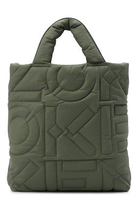 Женский сумка-шопер arctik kenzo sport KENZO хаки цвета, арт. FB62SA001F08 | Фото 1 (Материал: Текстиль; Размер: medium; Сумки-технические: Сумки-шопперы)