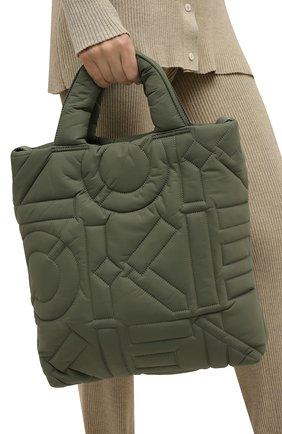 Женский сумка-шопер arctik kenzo sport KENZO хаки цвета, арт. FB62SA001F08 | Фото 2 (Материал: Текстиль; Размер: medium; Сумки-технические: Сумки-шопперы)