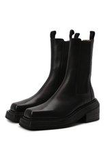 Женские кожаные ботинки cassetto MARSELL черного цвета, арт. MW6563/PELLE VITELL0 | Фото 1 (Подошва: Платформа; Материал внутренний: Натуральная кожа; Каблук высота: Средний; Женское Кросс-КТ: Челси-ботинки)