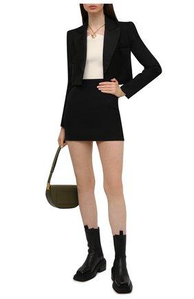 Женские кожаные ботинки cassetto MARSELL черного цвета, арт. MW6563/PELLE VITELL0 | Фото 2 (Подошва: Платформа; Материал внутренний: Натуральная кожа; Каблук высота: Средний; Женское Кросс-КТ: Челси-ботинки)