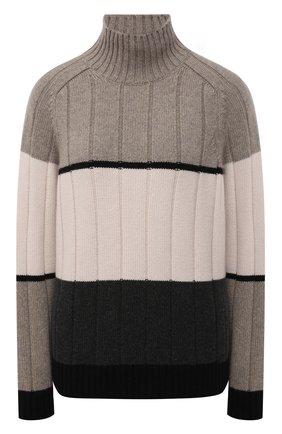 Женский кашемировый свитер LORO PIANA серого цвета, арт. FAL7027 | Фото 1 (Материал внешний: Шерсть, Кашемир; Длина (для топов): Стандартные; Рукава: Длинные; Женское Кросс-КТ: Свитер-одежда; Стили: Кэжуэл)