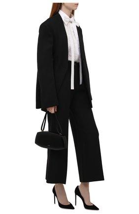 Женская хлопковая блузка VALENTINO белого цвета, арт. WB0AB2Y05A6 | Фото 2 (Материал внешний: Хлопок; Рукава: Длинные; Длина (для топов): Стандартные; Женское Кросс-КТ: Блуза-одежда; Принт: Без принта; Стили: Бохо)