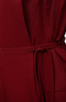 Женское платье из вискозы JIL SANDER бордового цвета, арт. JSWT506706-WT381500   Фото 5 (Рукава: Длинные; Случай: Повседневный; Длина Ж (юбки, платья, шорты): Миди; Материал внешний: Вискоза; Женское Кросс-КТ: Платье-одежда; Стили: Кэжуэл)