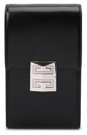 Женская сумка 4g mini GIVENCHY черного цвета, арт. BBU023B15S   Фото 1 (Ремень/цепочка: На ремешке; Размер: mini; Материал: Натуральная кожа; Сумки-технические: Сумки через плечо)