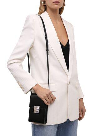 Женская сумка 4g mini GIVENCHY черного цвета, арт. BBU023B15S   Фото 2 (Ремень/цепочка: На ремешке; Размер: mini; Материал: Натуральная кожа; Сумки-технические: Сумки через плечо)