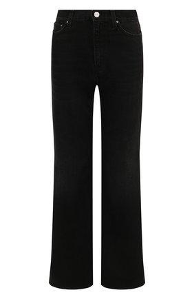 Женские джинсы TOTÊME черного цвета, арт. 214-231-744 | Фото 1 (Длина (брюки, джинсы): Стандартные; Материал внешний: Хлопок; Кросс-КТ: Деним; Силуэт Ж (брюки и джинсы): Расклешенные; Стили: Кэжуэл)