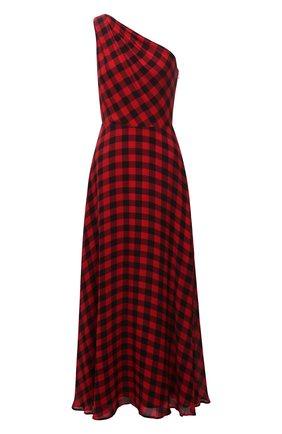 Женское платье из вискозы POLO RALPH LAUREN красного цвета, арт. 211815370 | Фото 1 (Материал внешний: Вискоза; Материал подклада: Синтетический материал; Длина Ж (юбки, платья, шорты): Макси; Женское Кросс-КТ: Платье-одежда; Случай: Повседневный; Стили: Гранж)