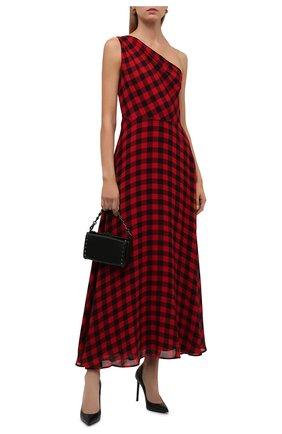 Женское платье из вискозы POLO RALPH LAUREN красного цвета, арт. 211815370 | Фото 2 (Материал внешний: Вискоза; Материал подклада: Синтетический материал; Длина Ж (юбки, платья, шорты): Макси; Женское Кросс-КТ: Платье-одежда; Случай: Повседневный; Стили: Гранж)