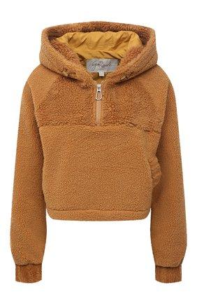 Женская анорак VEGANCODE светло-коричневого цвета, арт. BJ18100   Фото 1 (Материал подклада: Синтетический материал; Рукава: Длинные; Длина (верхняя одежда): Короткие; Материал внешний: Синтетический материал; Кросс-КТ: Куртка; Стили: Кэжуэл)