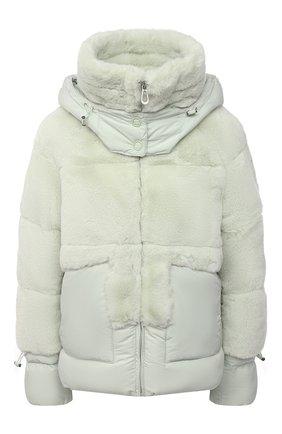 Женская утепленная куртка VEGANCODE светло-зеленого цвета, арт. BJ18099   Фото 1 (Материал подклада: Синтетический материал; Материал внешний: Синтетический материал; Рукава: Длинные; Длина (верхняя одежда): Короткие; Кросс-КТ: Куртка; Стили: Спорт-шик)