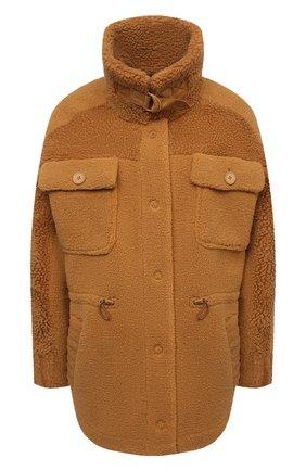 Женская куртка VEGANCODE светло-коричневого цвета, арт. BJ18095   Фото 1 (Материал внешний: Синтетический материал; Длина (верхняя одежда): Короткие; Рукава: Длинные; Кросс-КТ: Куртка; Стили: Кэжуэл)