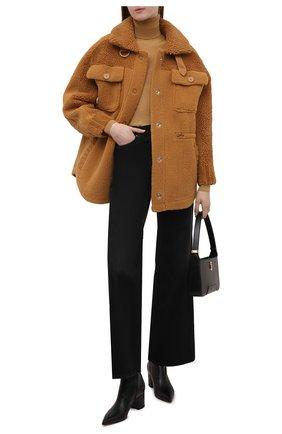 Женская куртка VEGANCODE светло-коричневого цвета, арт. BJ18095   Фото 2 (Материал внешний: Синтетический материал; Длина (верхняя одежда): Короткие; Рукава: Длинные; Кросс-КТ: Куртка; Стили: Кэжуэл)