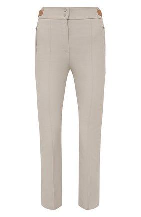 Женские хлопковые брюки LORO PIANA светло-серого цвета, арт. FAL8821 | Фото 1 (Материал внешний: Хлопок; Длина (брюки, джинсы): Стандартные; Женское Кросс-КТ: Брюки-одежда; Силуэт Ж (брюки и джинсы): Прямые; Стили: Кэжуэл)