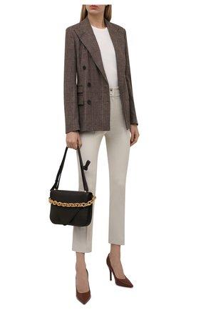Женские хлопковые брюки LORO PIANA светло-серого цвета, арт. FAL8821 | Фото 2 (Материал внешний: Хлопок; Длина (брюки, джинсы): Стандартные; Женское Кросс-КТ: Брюки-одежда; Силуэт Ж (брюки и джинсы): Прямые; Стили: Кэжуэл)
