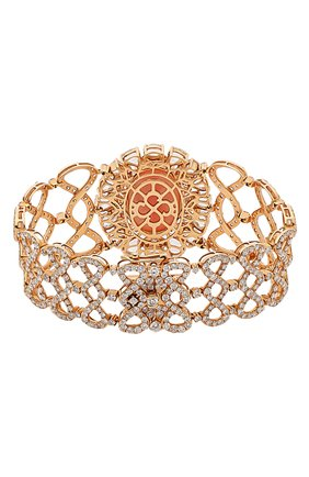Женский браслет SUTRA JEWELS бесцветного цвета, арт. SJBR387 | Фото 2 (Драгоценные камни: Бриллианты, Другие; Материал сплава: Розовое золото)