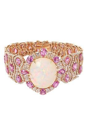 Женский браслет SUTRA JEWELS бесцветного цвета, арт. SJBR467 | Фото 1 (Драгоценные камни: Бриллианты, Сапфиры, Другие; Материал сплава: Розовое золото)