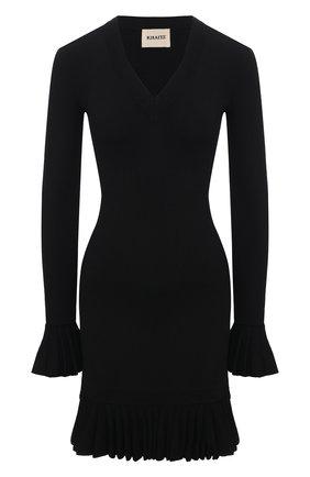 Женское платье из вискозы KHAITE черного цвета, арт. 8673400/LULU | Фото 1 (Рукава: Длинные; Длина Ж (юбки, платья, шорты): Мини; Случай: Повседневный; Кросс-КТ: Трикотаж; Материал внешний: Вискоза; Стили: Бохо; Женское Кросс-КТ: Платье-одежда)