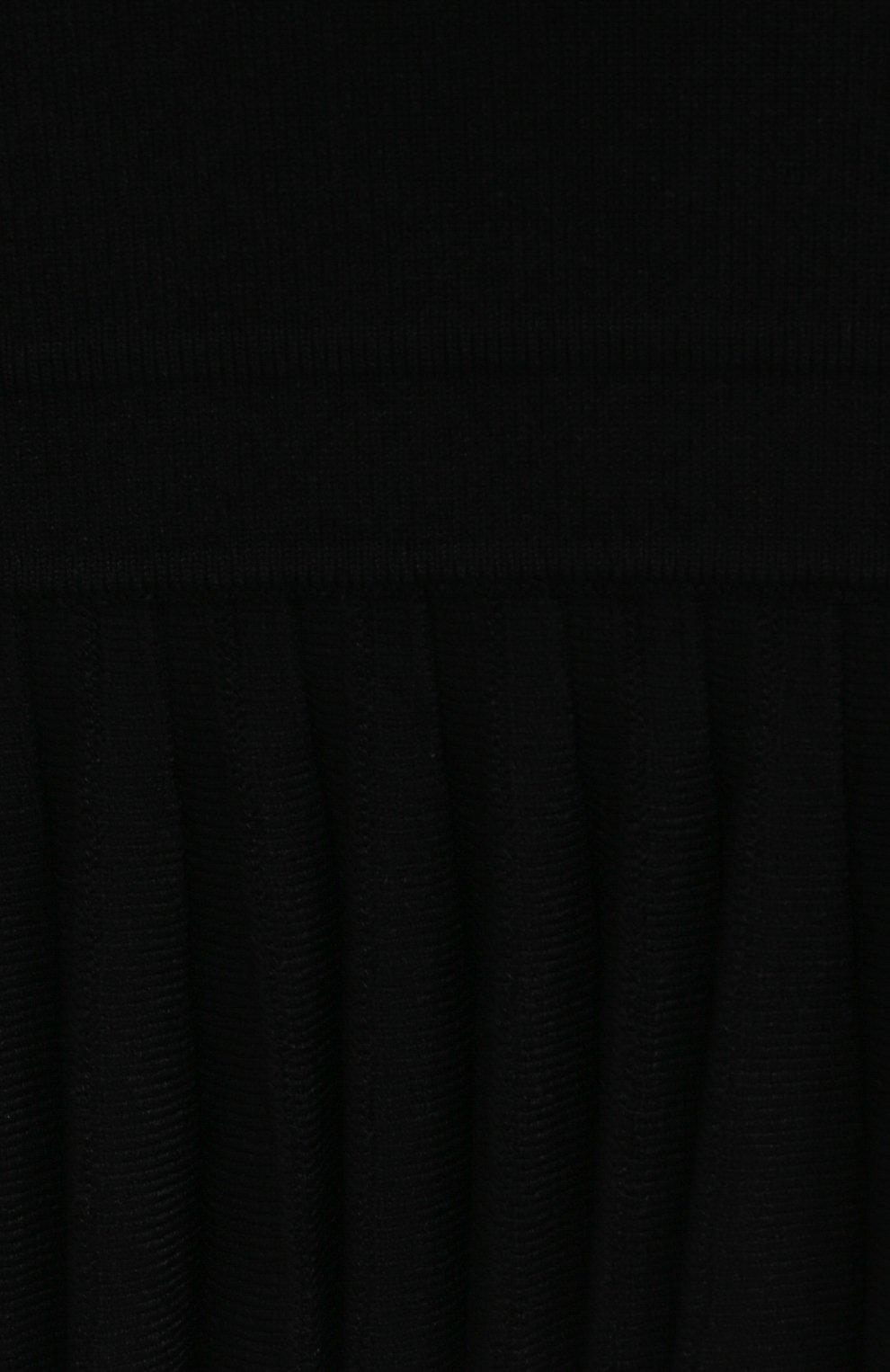 Женское платье из вискозы KHAITE черного цвета, арт. 8673400/LULU | Фото 5 (Рукава: Длинные; Длина Ж (юбки, платья, шорты): Мини; Случай: Повседневный; Кросс-КТ: Трикотаж; Материал внешний: Вискоза; Стили: Бохо; Женское Кросс-КТ: Платье-одежда)