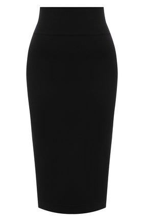 Женская юбка DOLCE & GABBANA черного цвета, арт. F4CATT/FUGKG | Фото 1 (Материал внешний: Вискоза; Длина Ж (юбки, платья, шорты): Миди; Женское Кросс-КТ: Юбка-одежда, Юбка-карандаш; Стили: Кэжуэл)