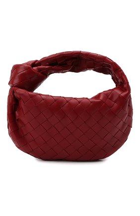 Женская сумка jodie mini BOTTEGA VENETA красного цвета, арт. 651876/VCPP5   Фото 1 (Материал: Натуральная кожа; Сумки-технические: Сумки top-handle; Размер: mini)