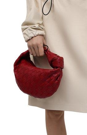 Женская сумка jodie mini BOTTEGA VENETA красного цвета, арт. 651876/VCPP5   Фото 2 (Материал: Натуральная кожа; Сумки-технические: Сумки top-handle; Размер: mini)