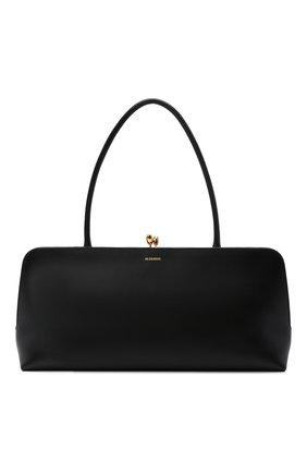 Женская сумка goji JIL SANDER черного цвета, арт. JSWT852369-WTB00111N   Фото 1 (Размер: large; Материал: Натуральная кожа; Сумки-технические: Сумки top-handle)
