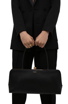 Женская сумка goji JIL SANDER черного цвета, арт. JSWT852369-WTB00111N   Фото 2 (Размер: large; Материал: Натуральная кожа; Сумки-технические: Сумки top-handle)