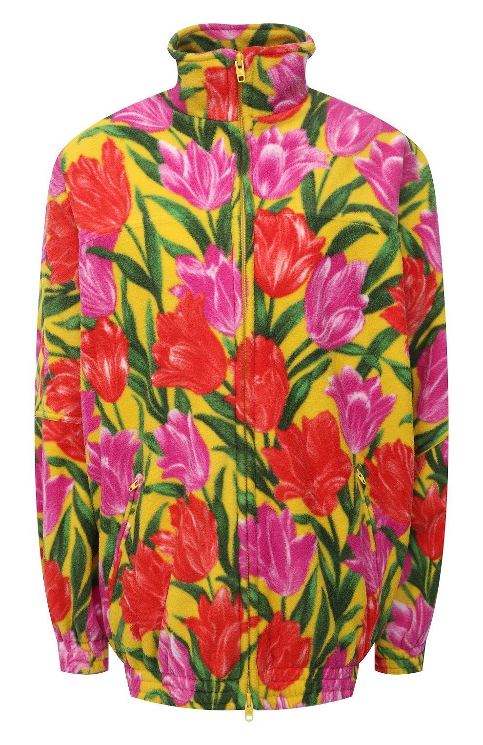 Женская куртка BALENCIAGA желтого цвета, арт. 678409/TLLB5 | Фото 1 (Кросс-КТ: Куртка; Рукава: Длинные; Длина (верхняя одежда): До середины бедра; Материал внешний: Синтетический материал; Стили: Спорт-шик; Материал подклада: Синтетический материал)